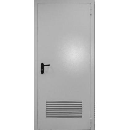 Противопожарная входная дверь с вентиляционной решеткой