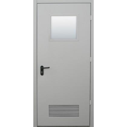 Противопожарная дверь с вентиляционной решеткой