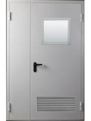 ППО Двухстворчатая EI 60 с вентиляционной решеткой