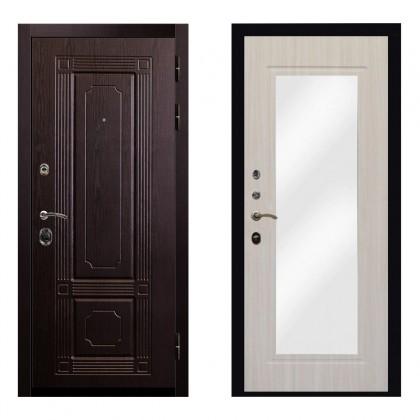 Входная дверь Рим Зеркало (Венге / Беленый дуб)