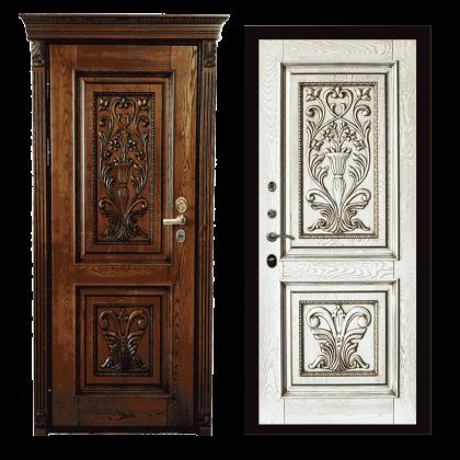 Входная дверь Сафия (Белый иней)